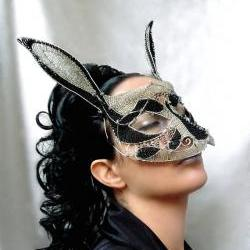 Rabbit masquerade mask, ladies, handmade